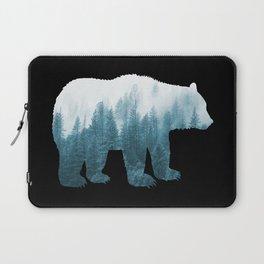 Misty Forest Bear - Turqoise Laptop Sleeve