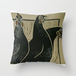 Cut The Cackle Throw Pillow