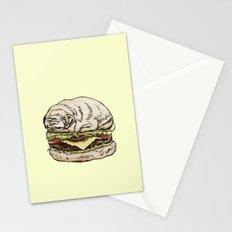 Pug Burger Stationery Cards