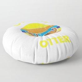 Otter Zoo Animal Lover Floor Pillow
