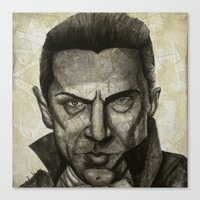 dracula Canvas Prints featuring Dracula by Colunga-Art