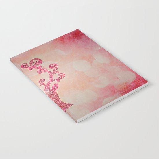 Pink sparkling glitter deer - Sparkle Effect Notebook