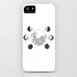 New Moon Waxing Crescent First Quarter Waxing Gibbous Full Waning Gibbous Third Quarter Waning iPhone Case