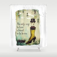 best friend Shower Curtains featuring Man's Best Friend by Sybille Sterk