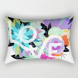 Love Blooms - Rainbow Rectangular Pillow