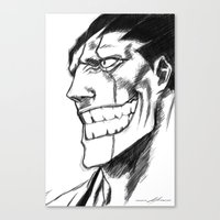 bleach Canvas Prints featuring Bleach: Kenpachi  by nightfrost4