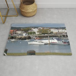 Boats in harbor of Rockland, Maine. Rug