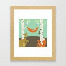 Woodland Baby Framed Art Print