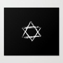 Star of David 22- Jerusalem -יְרוּשָׁלַיִם,israel,hebrew,judaism,jew,david,magen david Canvas Print