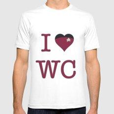 I Heart Wesley Crusher MEDIUM Mens Fitted Tee White