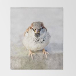 Don't Mess With Sparrows Throw Blanket