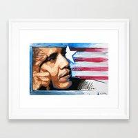 obama Framed Art Prints featuring Obama by CjosephART