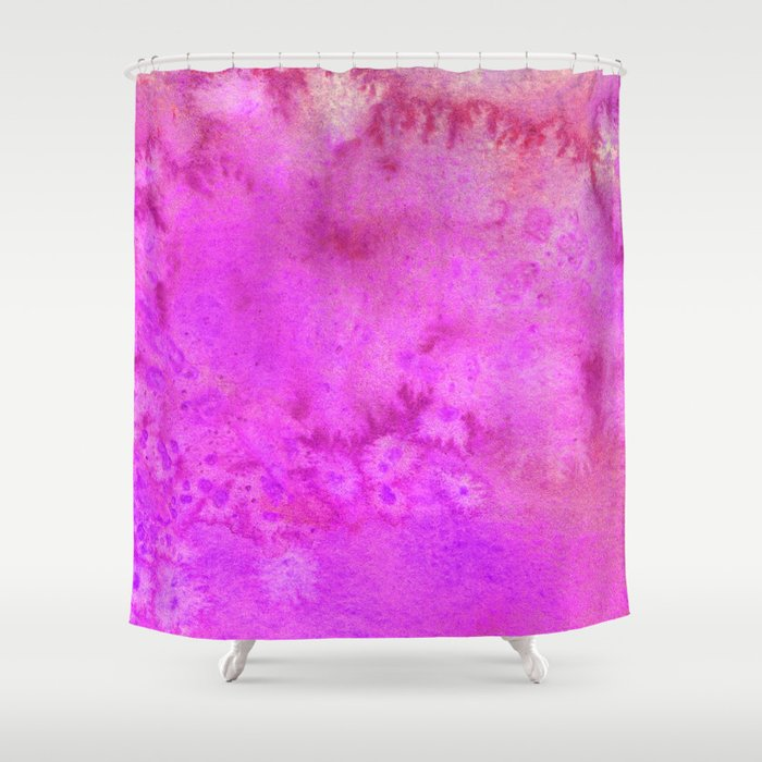 The Pink Power Shower Curtain