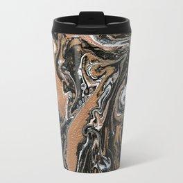 Fluid Gold - Abstract, acrylic, art painting Travel Mug