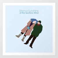 eternal sunshine of the spotless mind Art Prints featuring Eternal Sunshine of the Spotless Mind by bonieiji