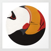 puffin Art Prints featuring Puffin by Black Toe