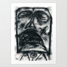The pain of shame Art Print