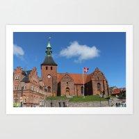 Vor Frue Kirke, Svendborg, Denmark Art Print