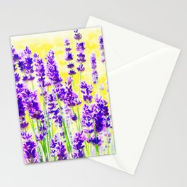Lavender Watercolor Stationery Cards