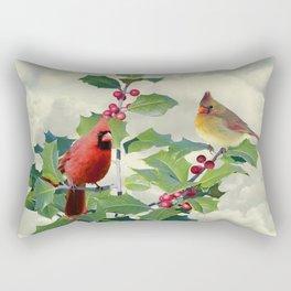 Cardinals on Tree Top Rectangular Pillow