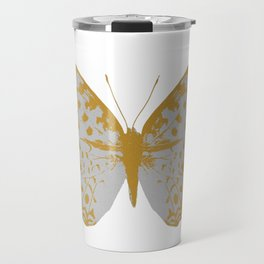 Silver Butterfly Travel Mug
