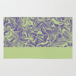 Liquid Swirl - Lettuce Green and Ultra Violet Rug