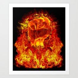 FIRE POWER Art Print