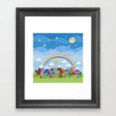 Cute World Framed Art Print