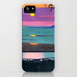 Sunset - Coucher de Soleil by Félix Vallotton - Colorful Les Nabis Art iPhone Case
