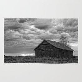 Finland Farm (Black and White) Rug