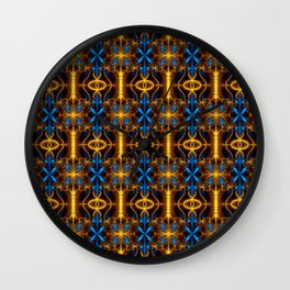 Colorful psychedelic Wall Clock