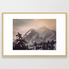 Pink Mountain Morning - Nature Photography Framed Art Print