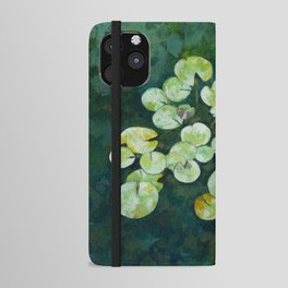 Tranquil lily pond iPhone Wallet Case