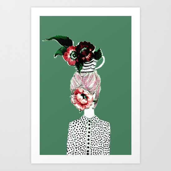 Tea Girl Art Print