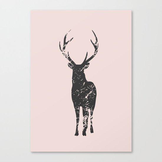 Plain deer modern art Canvas Print