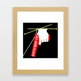 Stitched Up Framed Art Print