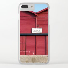 Red house Aveiro Portugal Clear iPhone Case