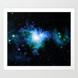 Orion Nebula Blue Green Art Print