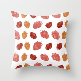 Very Strawberry Throw Pillow