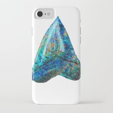 Blue Shark Tooth Art by Sharon Cummings iPhone 7 Slim Case