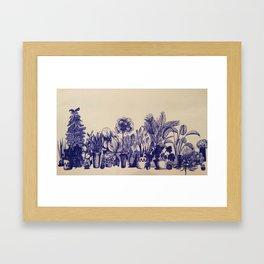 Plants in Pen Framed Art Print