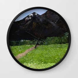 Mountain Pass Wall Clock