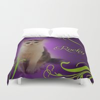 rocky Duvet Covers featuring Rocky by Flavia Jurca