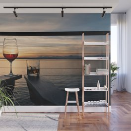 Wine and Whiskey Eve Wall Mural