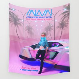 Hover Racing at Pink Sands Wall Tapestry