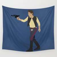 han solo Wall Tapestries featuring Solo by DWatson