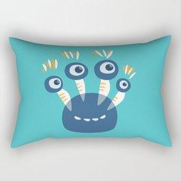 Cute Blue Four Eyed Monster Rectangular Pillow