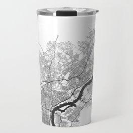 PHILADELPHIA MAP PRINT Travel Mug