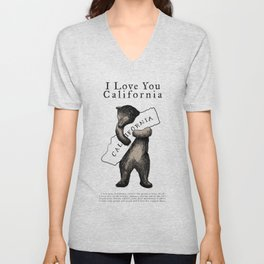 i love you california Unisex V-Neck