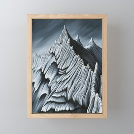 'Strange Peaks and Ridges' Framed Mini Art Print